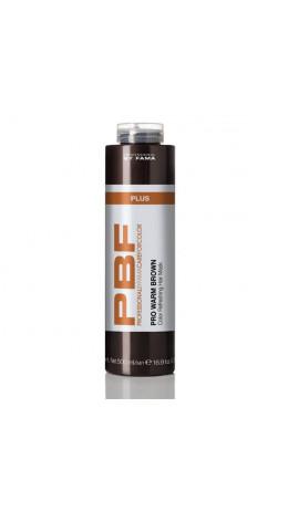 Маска усиливающая тёплые оттенки каштановых волос 500 мл PRO WARM BROWN PLUS MASK