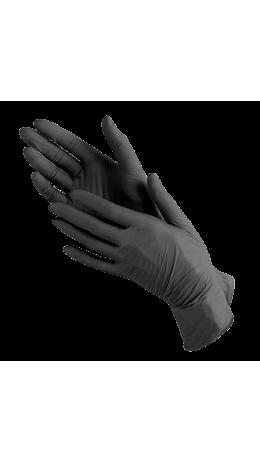 Перчатки нитриловые черные (размеры S,M) - S