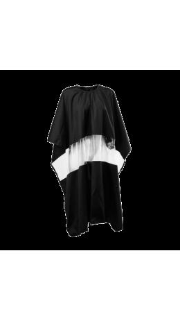 Пеньюар черный с вставкой из прозрачной пленки